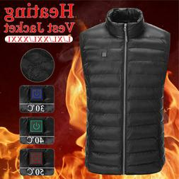 Electric Vest Heated Cloth Jacket USB Thermal Warm Heated Wi