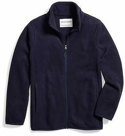 Essentials Big Boys' Full-Zip Polar Fleece, Night Navy, Size