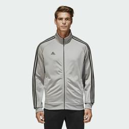 Adidas Essentials Track Jacket Top Tricot Solid Grey Black 3