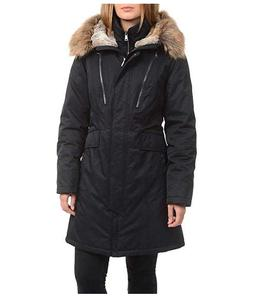 1 Madison Expedition Women's Faux Fur Hooded Parka Jacket, B