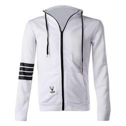 Fashion Men Hoodies Front Zipper Coat Leisure Sweatshirts Ho