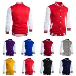 Fashion Mens Varsity Jacket College University Letterman Bas