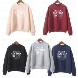 Fashion Women's BTS Hoodies Sport Sweatshirt  Tops Jumpers P