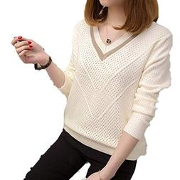 Fashion Women Sweaters and Pullovers Hollow Sweaters Womens