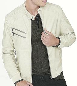EXPRESS FAUX LEATHER RACER MOTO BOMBER STYLE MEN'S JACKET /