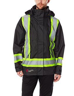 Viking Flame Resistant Rain Jacket, Black, L, 3907FRJ-L