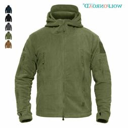 Fleece Lining Mens Army Jackets Military Tactical Hooded Coa