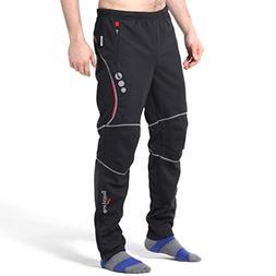 4ucycling men's sports outdoor fleeced warmer pants black 4x