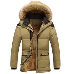 <font><b>Men</b></font> Thick Warm Coat Parka Male Muti Colo
