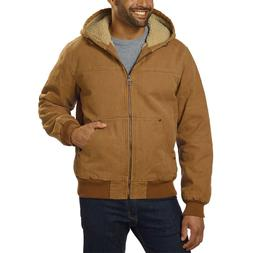 GH Bass & Co Men's Sherpa Lined Canvas Bomber Work Jacket wi