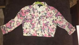 Girl's Floral Jean Jacket  Outerwear