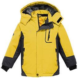 Wantdo Girl's Hooded Ski Fleece Jacket Windproof Raincoats O