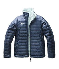 The North Face Girl's Reversible Mossbud Swirl Jacket - Blue