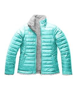 The North Face Girl's Reversible Mossbud Swirl Jacket - Mint