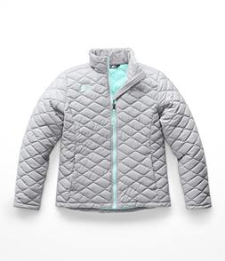 The North Face Girl's Thermoball Full Zip - Mid Grey - M