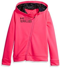 Under Armour Girls' Armour Fleece Full Zip Hoodie,Penta Pink
