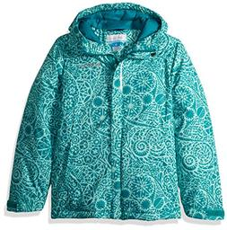 Columbia Girls' Big Horizon Ride Jacket, Emerald Mod Lace, M
