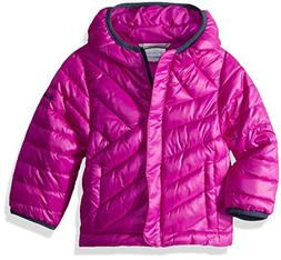 Columbia Girls' Big Powder Lite Puffer, Bright Plum, Medium