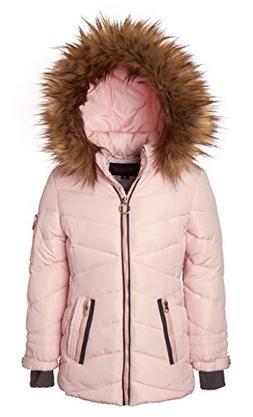Sportoli Girls' Heavy Quilt Lined Fashion Winter Jacket Co