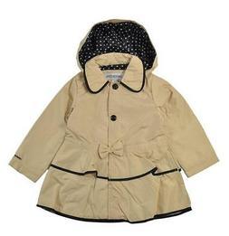London Fog Girls Khaki Tier Ruffled Outerwear Jacket Size 4