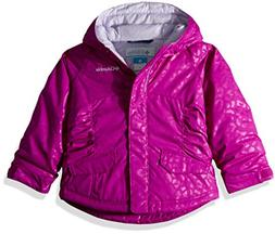 Columbia Girls' Toddler Razzmadazzle Jacket, Bright Plum Emb