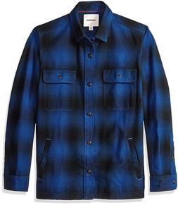 Goodthreads Men's Heavyweight Flannel Shirt Jacket,