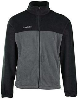 Columbia Mens Granite Mountain Fleece Jacket-Dark Gray/Gray-