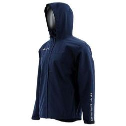 HUK H4000015-NVY-L Huk Packable Rain Jacket, Navy, Large