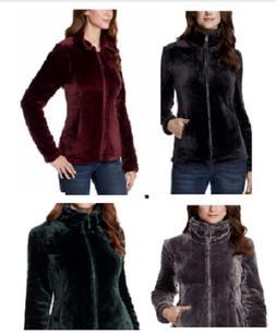 32 Degrees Heat Women Plush Velour Full Zip Mock Neck Jacket