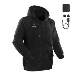 ORORO Heated Hoodie with Battery Pack Small,Black