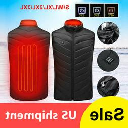 Heated Vest Warm Body Electric USB Men Women Heating Coat Ja