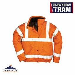 hi vis bomber jacket orange reflective coat