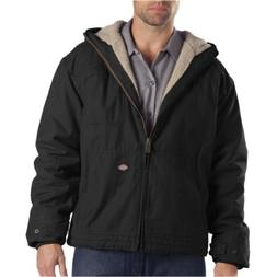 Men's Hooded Jacket Duck Sherpa Lined by Dickie's in Rinsed