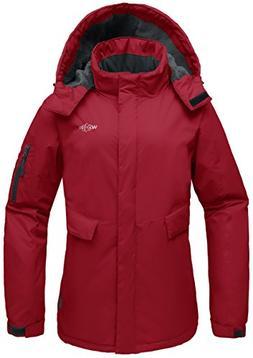 Wantdo Women's Hooded Mountain Fleece Waterproof Parka Outdo