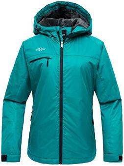 Wantdo Women's Hooded Mountain Ski Jacket Outdoor Fleece Win