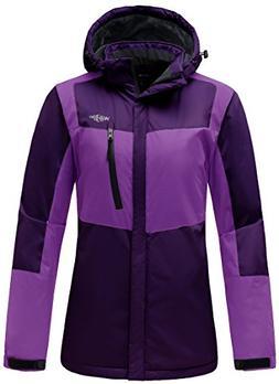 Wantdo Women's Hooded Waterproof Fleece Parka Outdoor Mounta