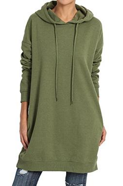 TheMogan Women's Hoodie Loose Fit Pocket Tunic Sweatshirts O