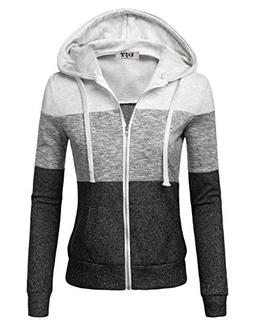 hoodies for women lightweight color block thin