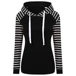 Hoodies for Womens, FORUU Ladies Casual Hooded Striped Long