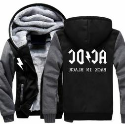 Hot Fashion The ACDC Mens Women's A Hoodie Zipper Coat Winte