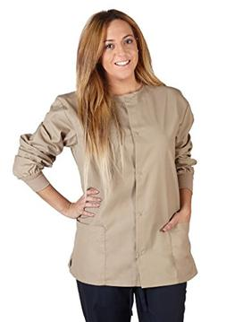 M&M Scrubs Women's Scrub Jacket Medical Scrub Jacket S Khaki