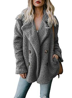 Dokotoo Womens Fashion Jackets Plus Size Casual Oversized Lo
