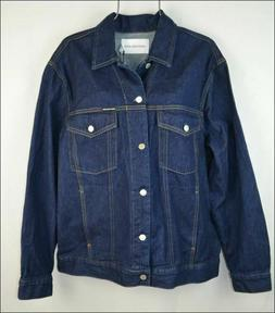 Calvin Klein Jeans Women's Denim Jacket 100% Cotton Size XL