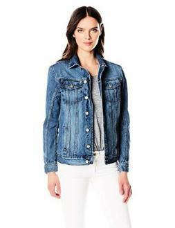 Calvin Klein Jeans Womens Collection Denim Trucker Jacket- P