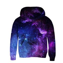 Uideazone Juniors Galaxy Nebula Cluster Printed Pullover Hoo