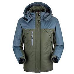 Kaured Stylish Jacket Men Thick Fleece Waterproof Military J