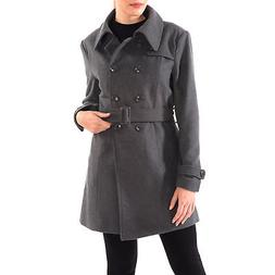 Alpine Swiss Keira Womens Trench Coat Double Breasted Wool J