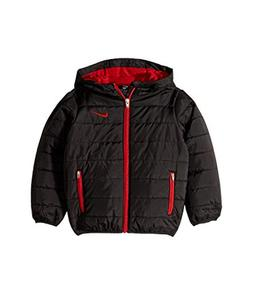 NIKE Kids Boy's Quilted Jacket  Black 7