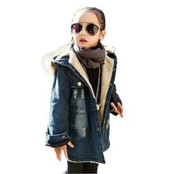 kids little big girls winter hooded fur
