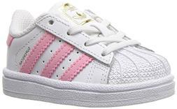 adidas Originals Kids' Superstar, White/Clear Light Pink/Met